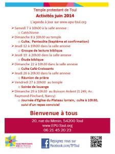 Agenda juin 2014