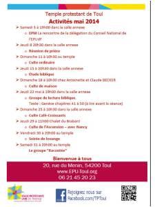 Agenda mai 2014