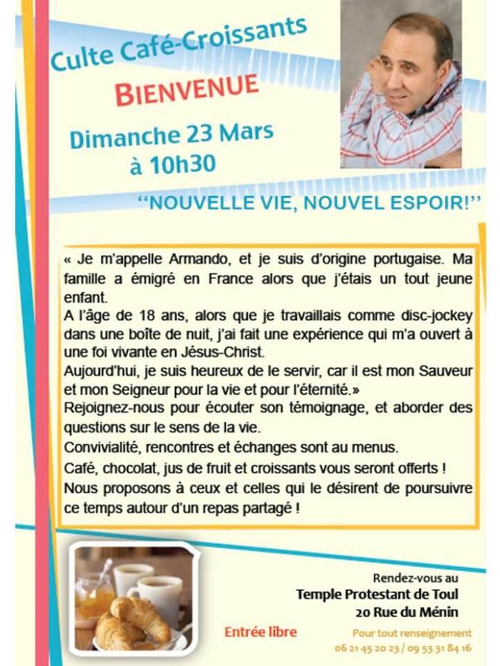 Culte Café-Croissant le 23 mars 2014