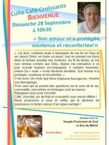 Culte Café-Croissants septembre 2014
