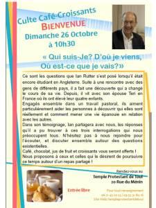 Culte Café-Croissants  Octobre 2014
