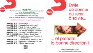 Invitation Parcours Alpha flyer